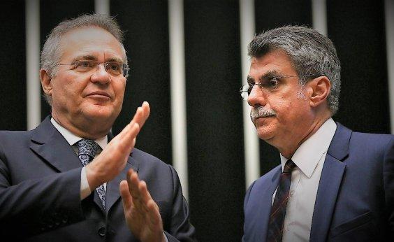 [Presidência do Senado já é disputada por Romero Jucá e Renan Calheiros ]
