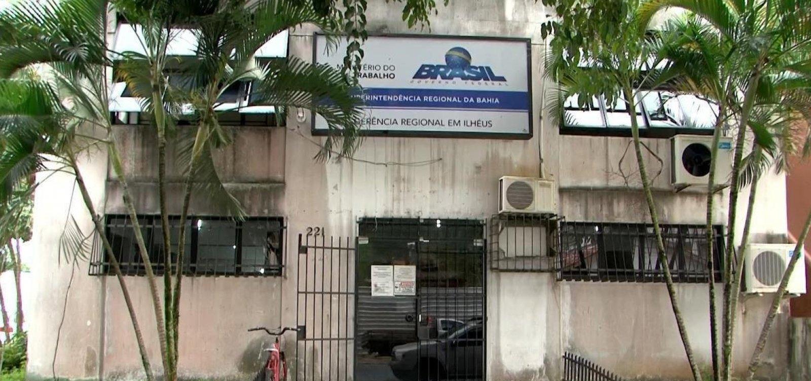 [Sede provisória do Ministério do Trabalho de Ilhéus é fechada por problemas estruturais]