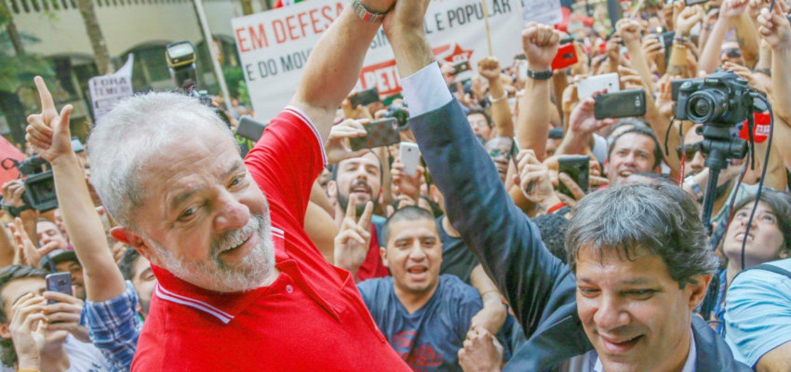 [PT escolhe Haddad como vice em chapa com Lula para a Presidência]