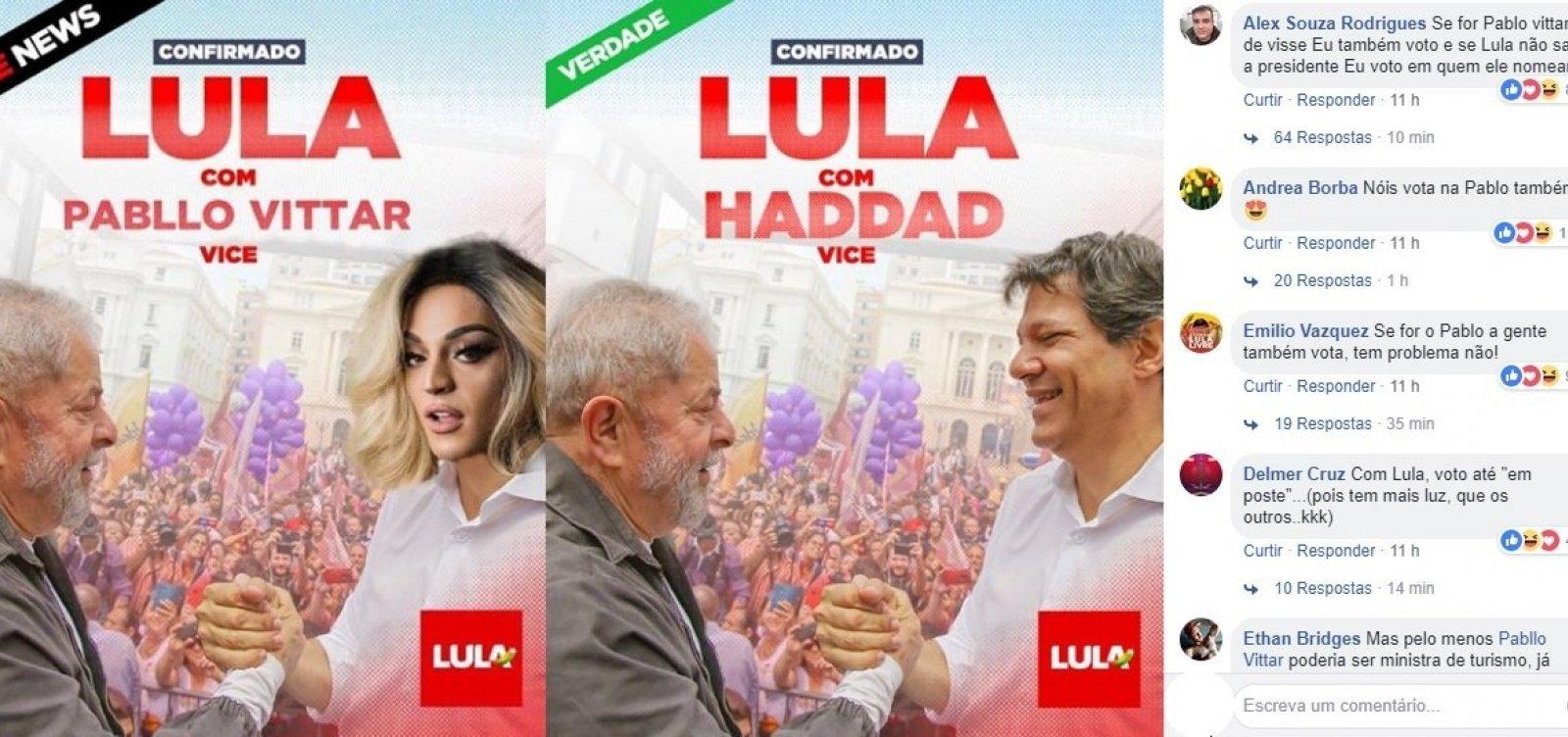 ['Agora foi longe demais': PT nega que Pabllo Vittar seja vice de Lula]