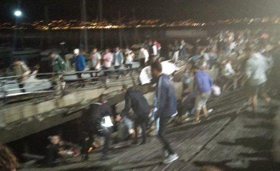 [Mais de 300 ficam feridos após plataforma desabar durante festival na Espanha]