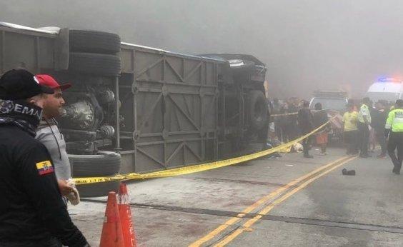 [Doze torcedores do Barcelona de Guayaquil morrem em acidente de ônibus]