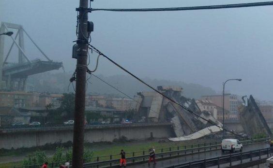 [Ponte cai na em Gênova, na Itália, e deixa 'dezenas de mortos']