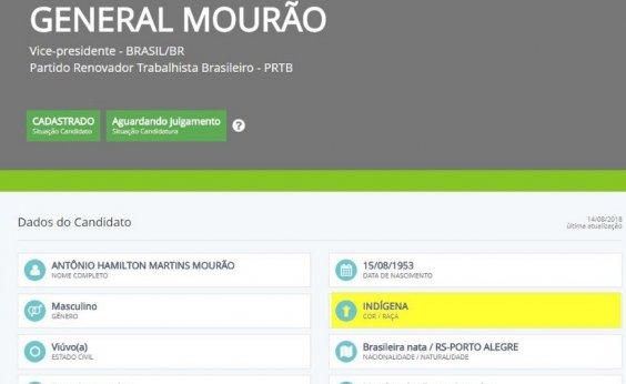 [Vice de Bolsonaro se autodeclara indígena ao TSE]