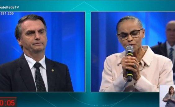 [Bolsonaro e Marina trocam farpas sobre diferença salarial entre homens e mulheres]