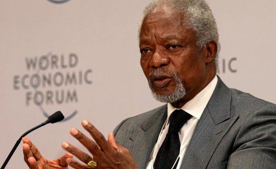 [Ex-secretário-geral da ONU e Nobel da Paz, Kofi Annan morre aos 80 anos]