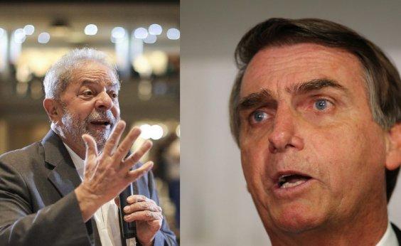 [Lula lidera intenções de voto, seguido por Bolsonaro, aponta pesquisa CNT ]