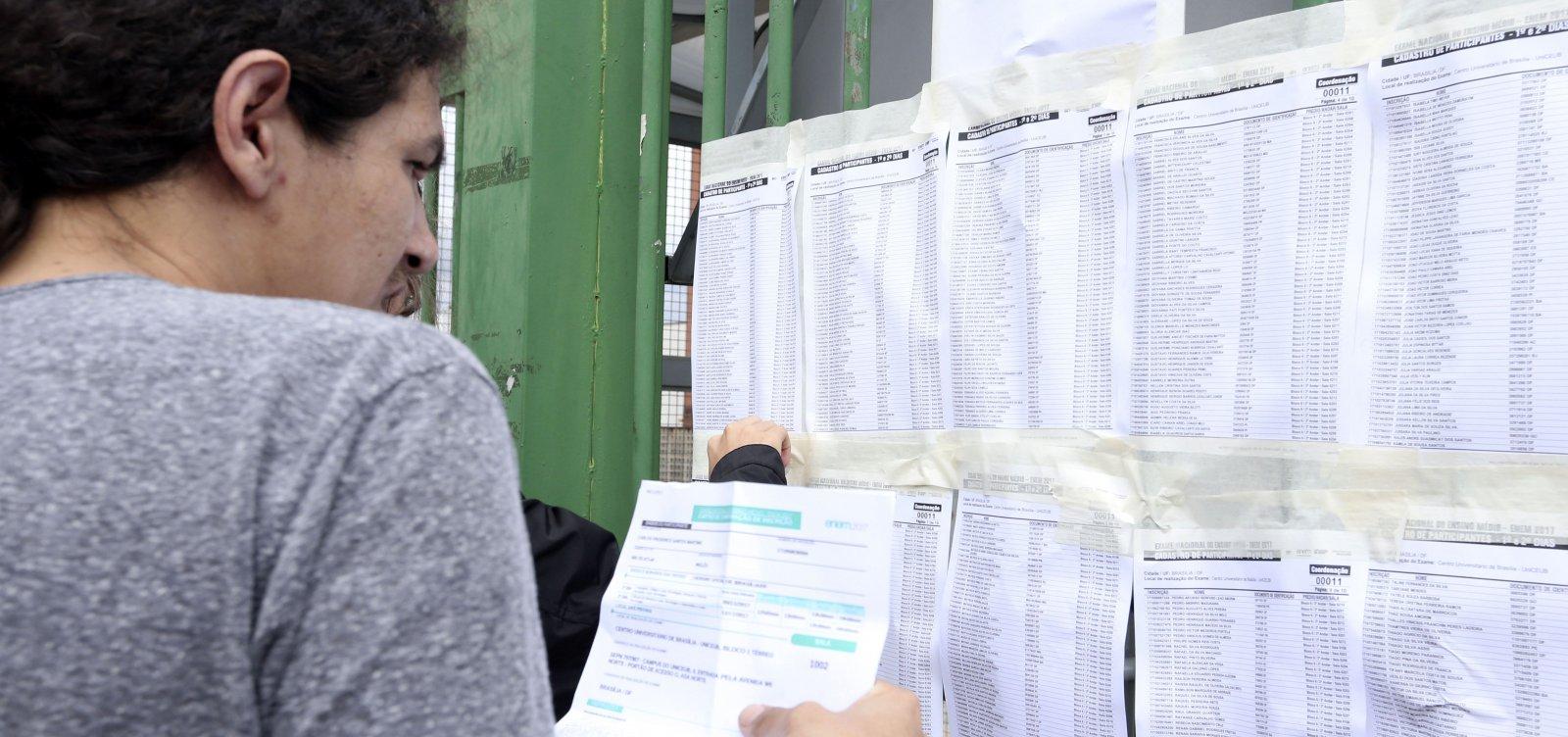 [Em dois anos, Bahia registra redução de 40% nas inscrições para o Enem]