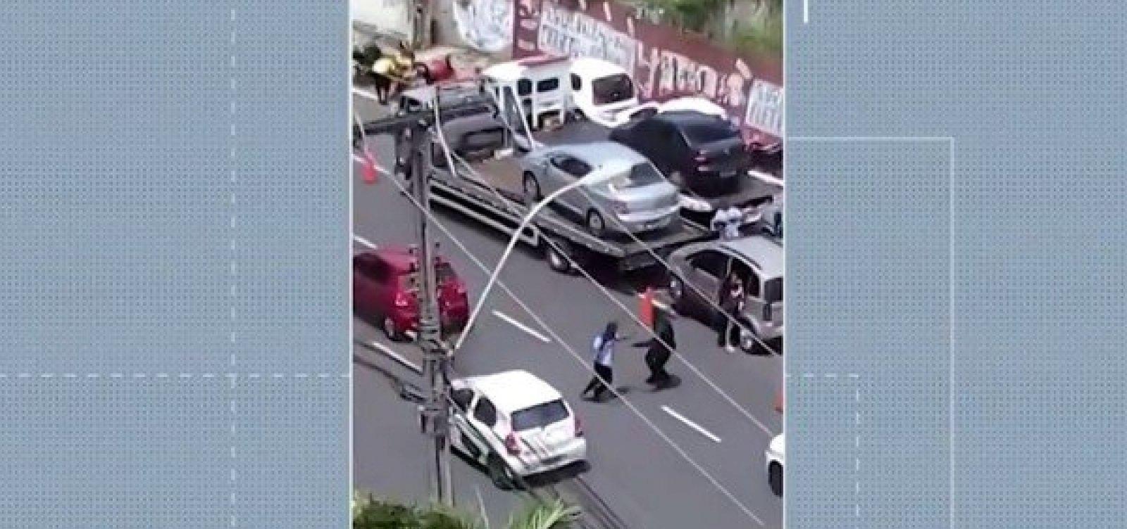 [Guardas municipais suspeitos de agressão a motoboy prestam depoimento]