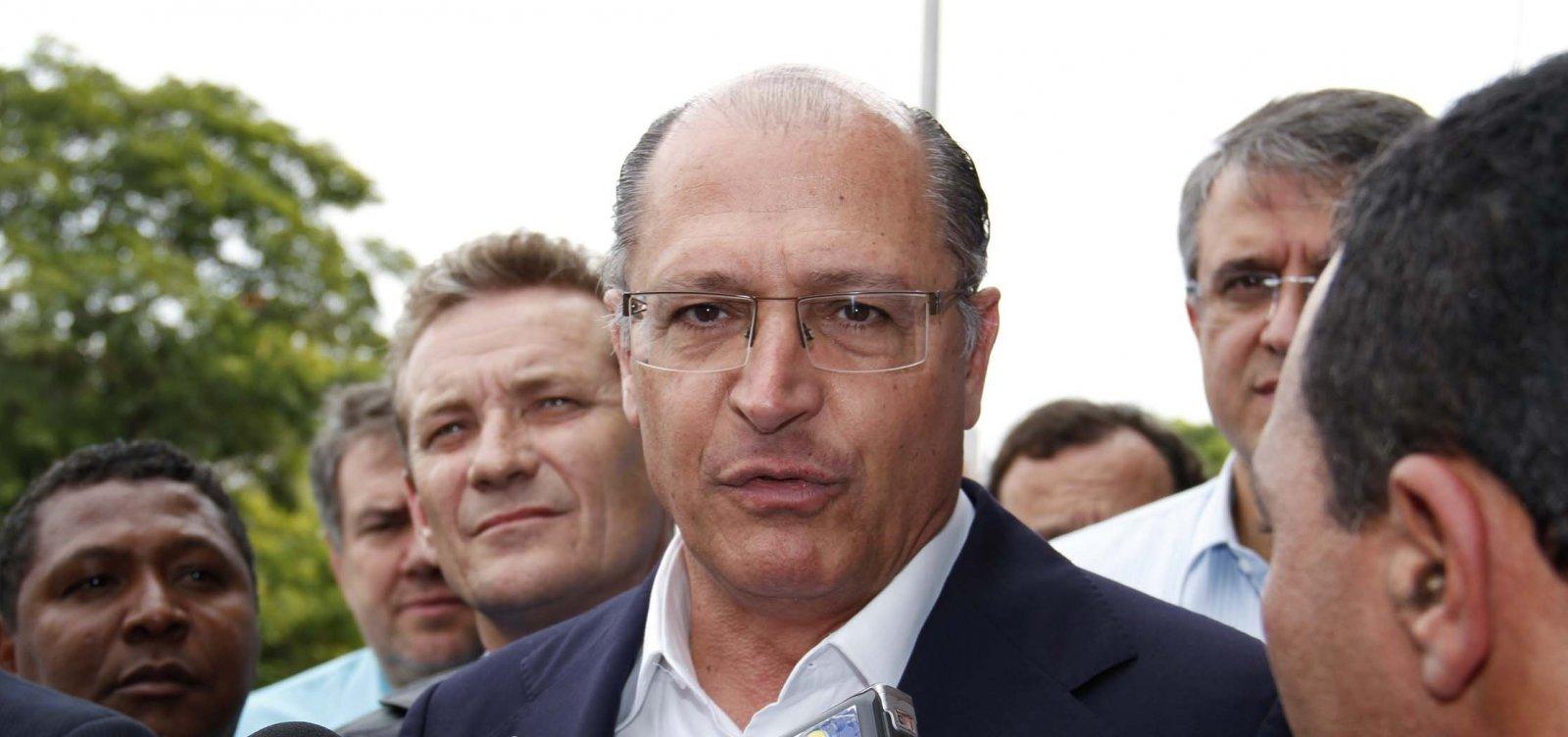 ['O PT já está no segundo turno; não penso isso do Bolsonaro', diz Alckmin]