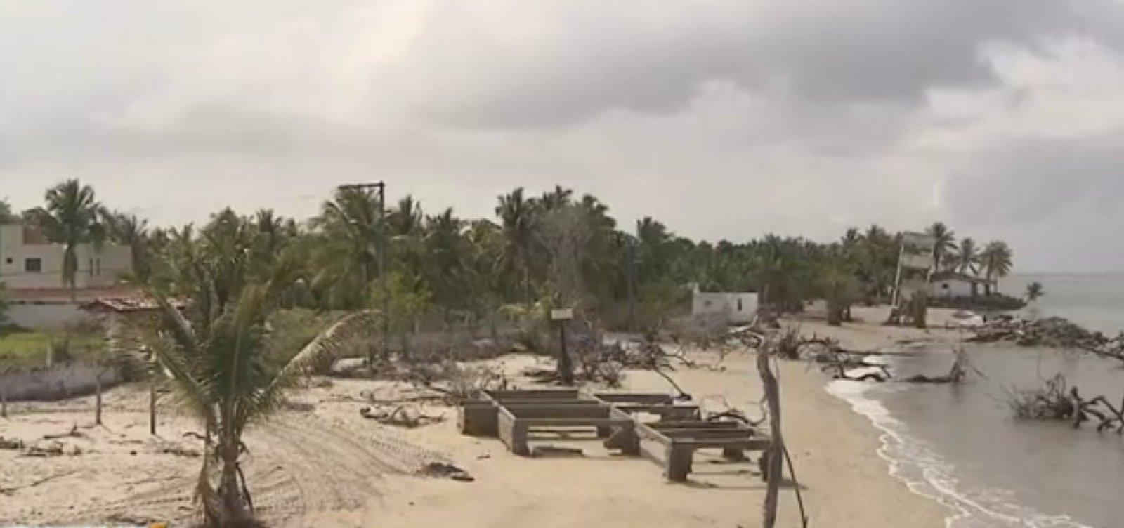 [Defesa Civil recomenda ações de emergência para conter avanço do mar em Vera Cruz]