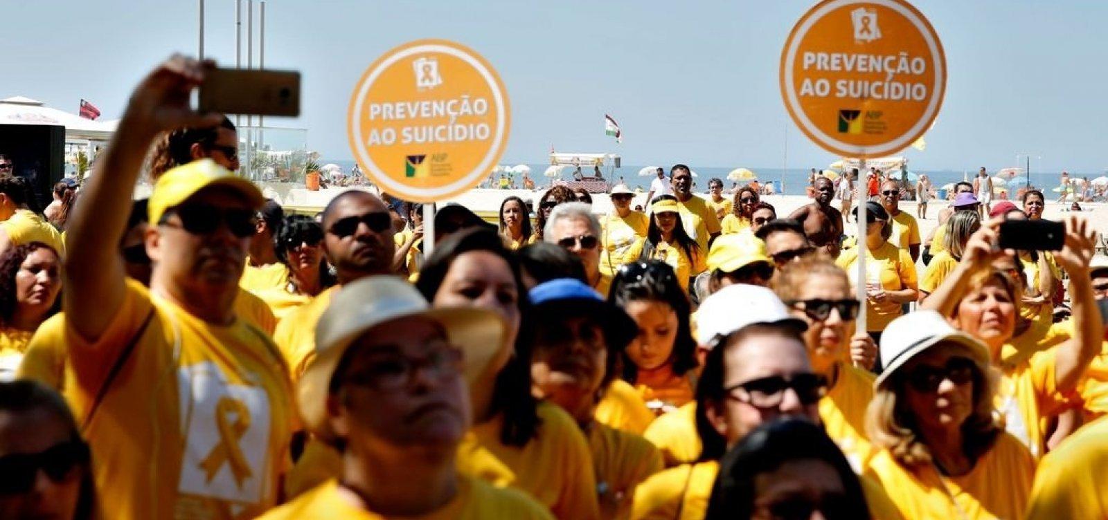 [Brasil tem um caso de suicídio a cada 46 minutos]