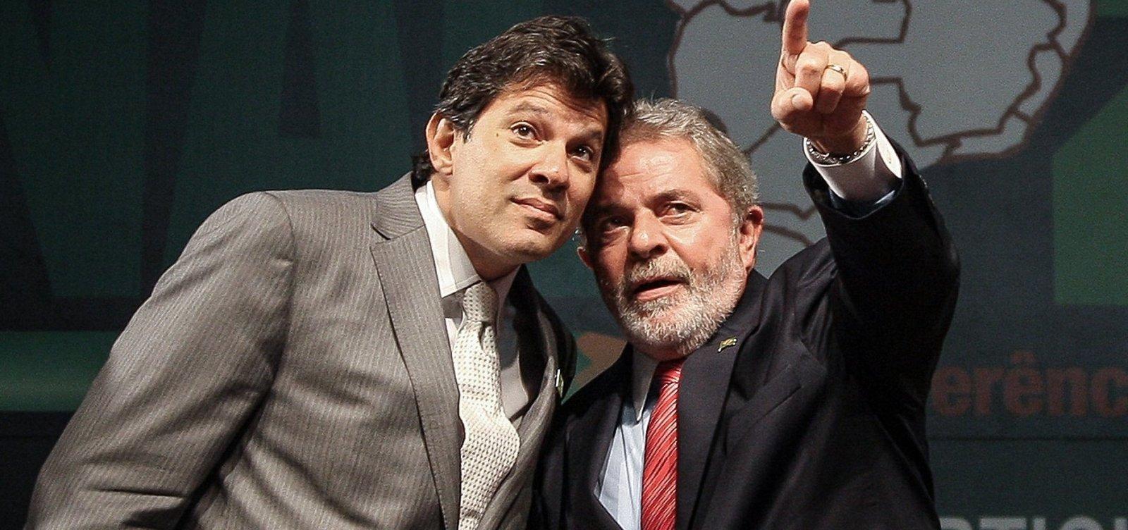 [Sobe número de eleitores que ligam Haddad e Lula]