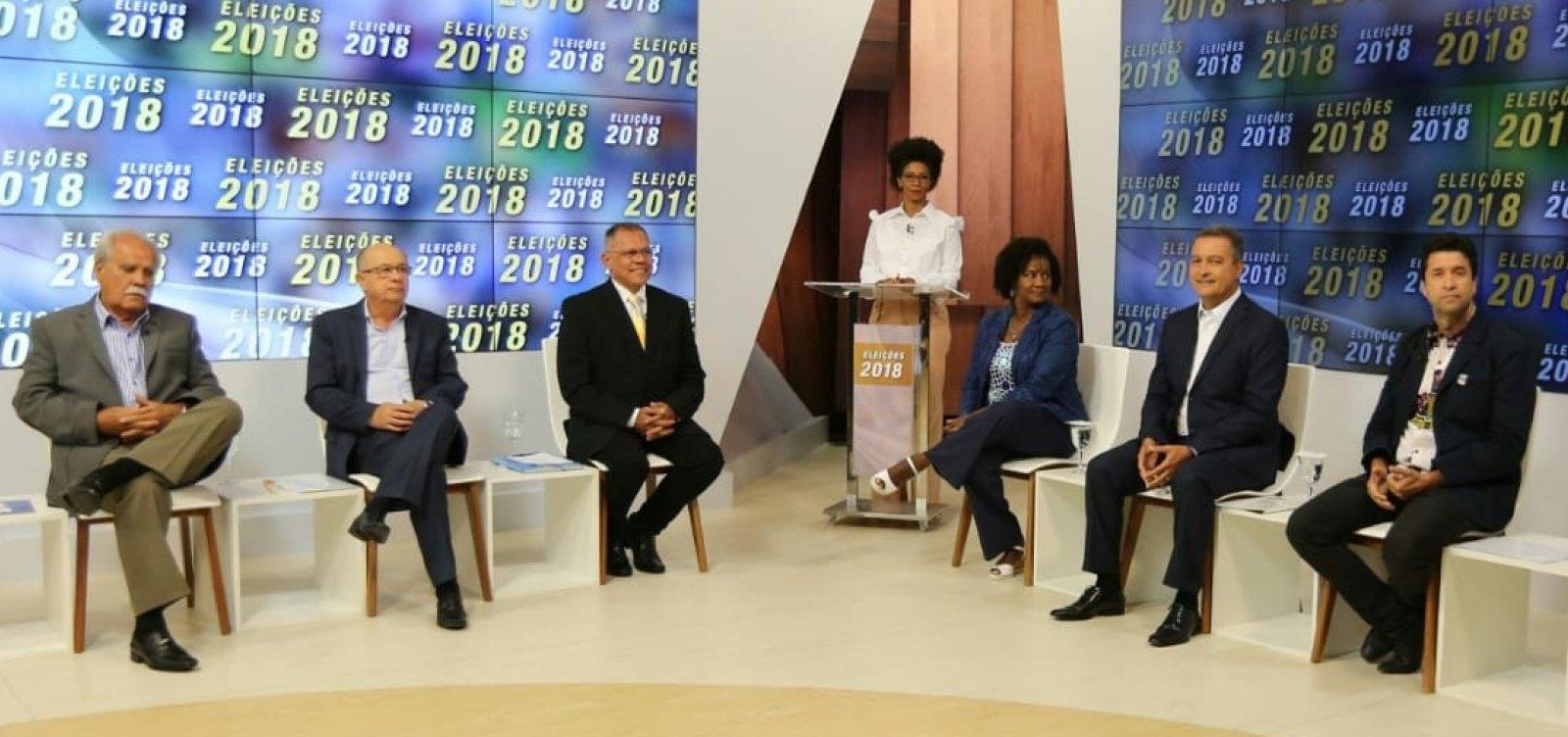 [Debate da TVE entre candidatos ao governo é marcado por poucos confrontos]