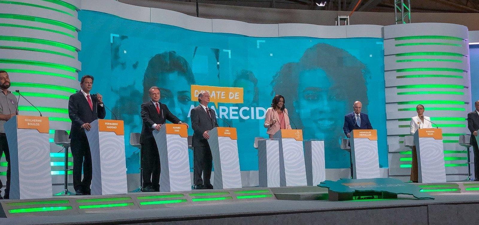 [Em seu primeiro debate, Haddad protagoniza confrontos com Alckmin e Meirelles]