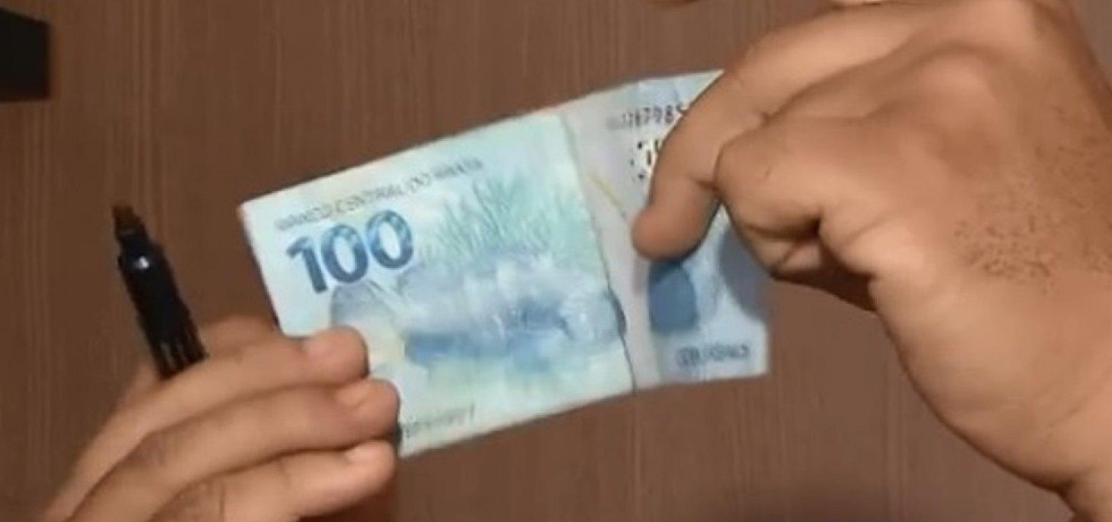 [Criminosos usam dinheiro falso para fazer compras pela internet, na Bahia]
