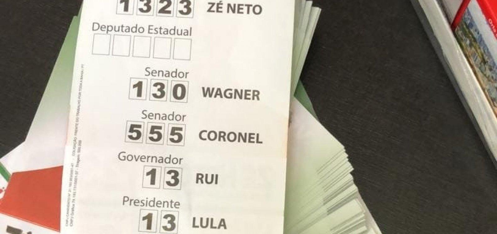 [Juíza determina busca e apreensão de mais de 2 milhões de santinhos com Lula na Bahia]