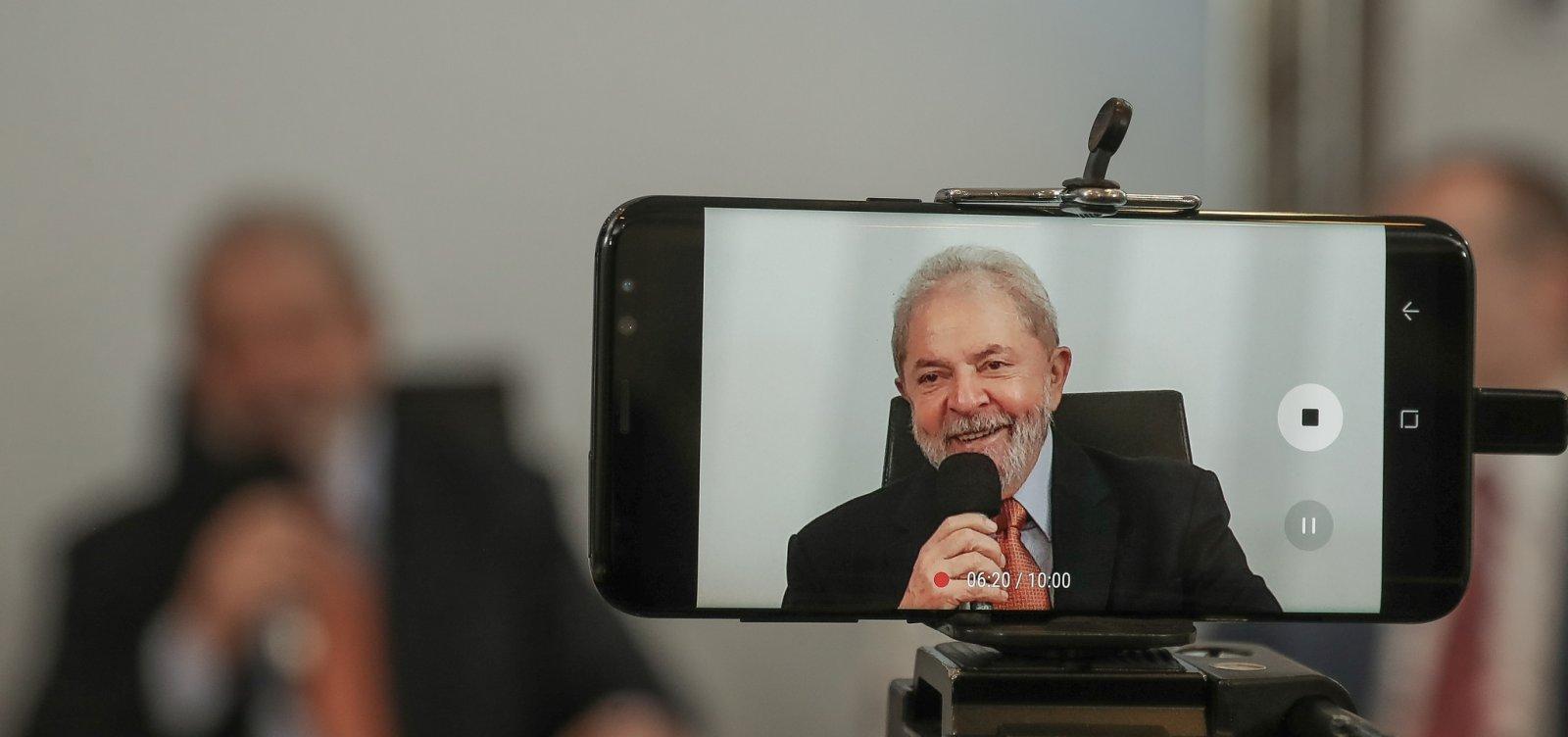 [Ministro do Supremoautoriza Lula a conceder entrevista]