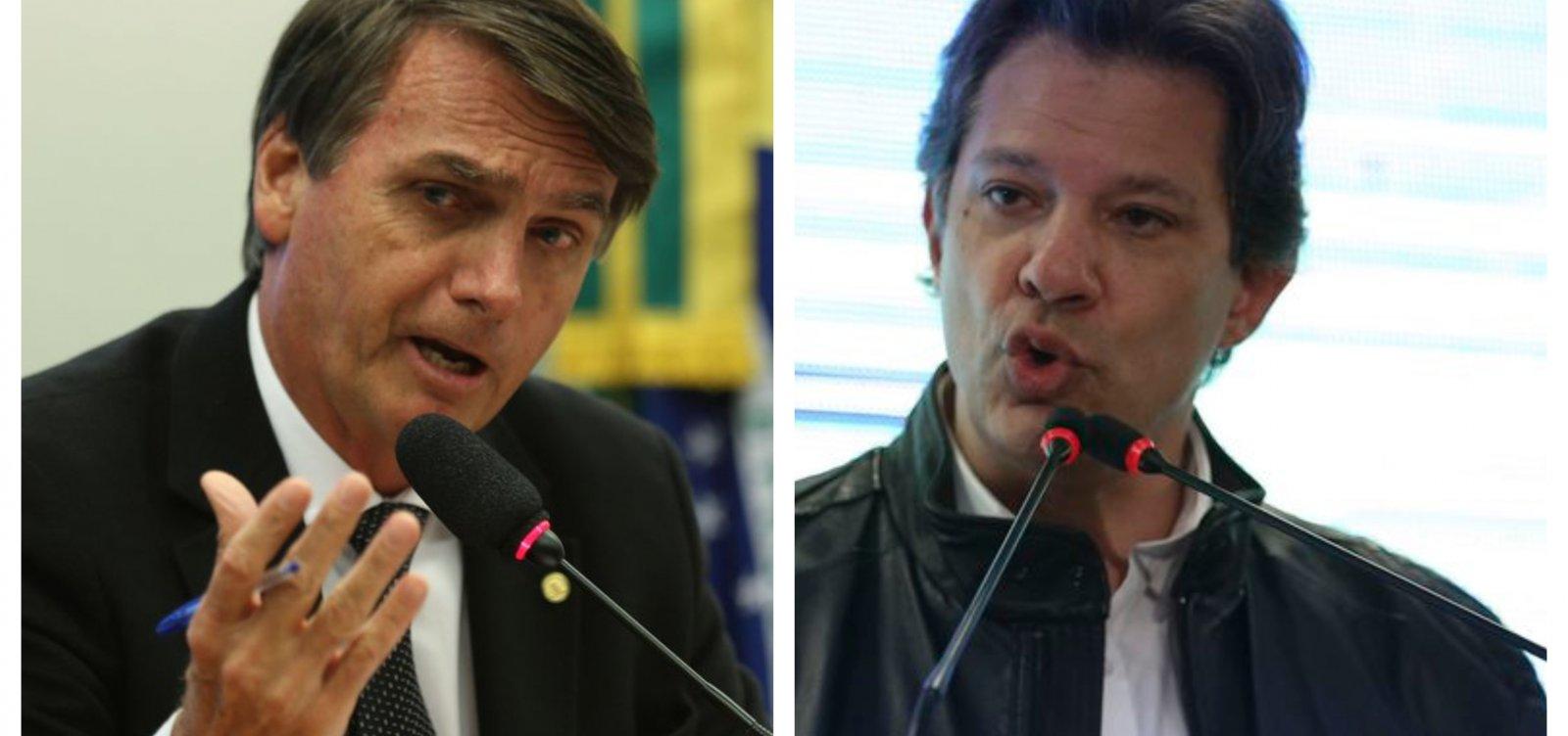 [Haddad derrota Bolsonaro no 2º turno, diz CNT/MDA; veja simulações ]