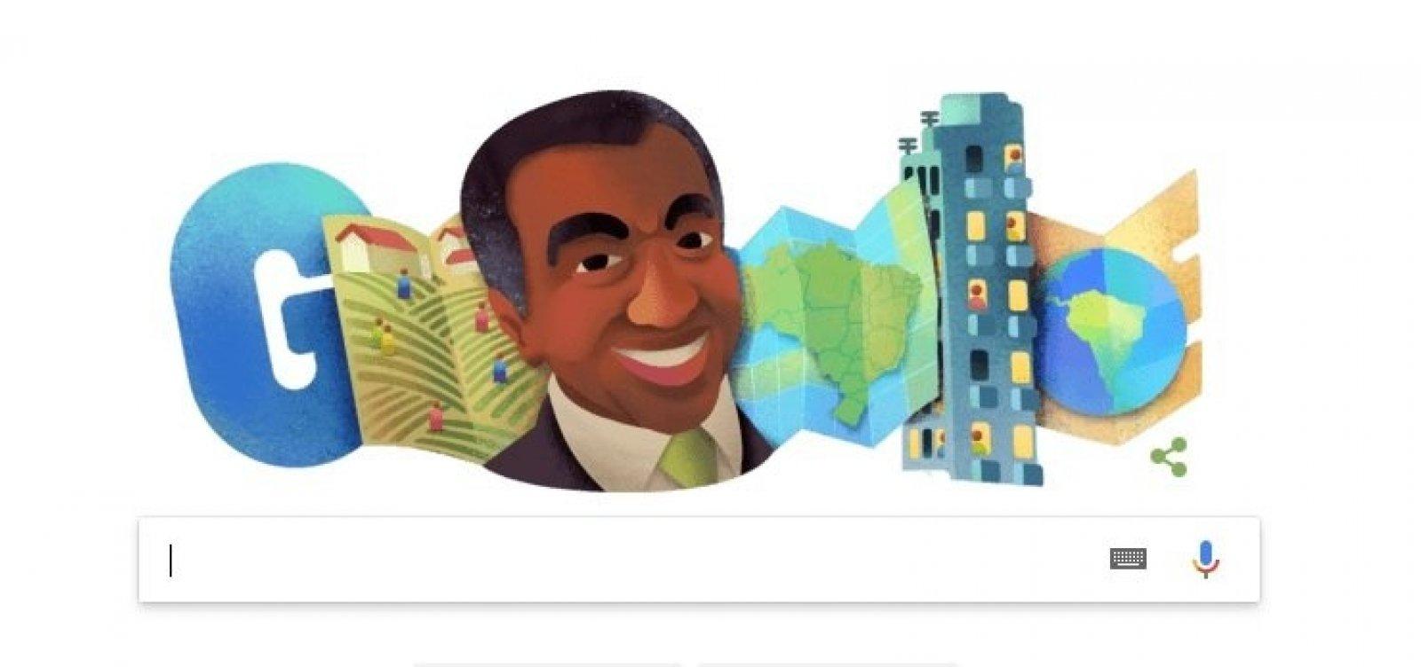 [Baiano, Milton Santos é homenageado por doodle do Google]