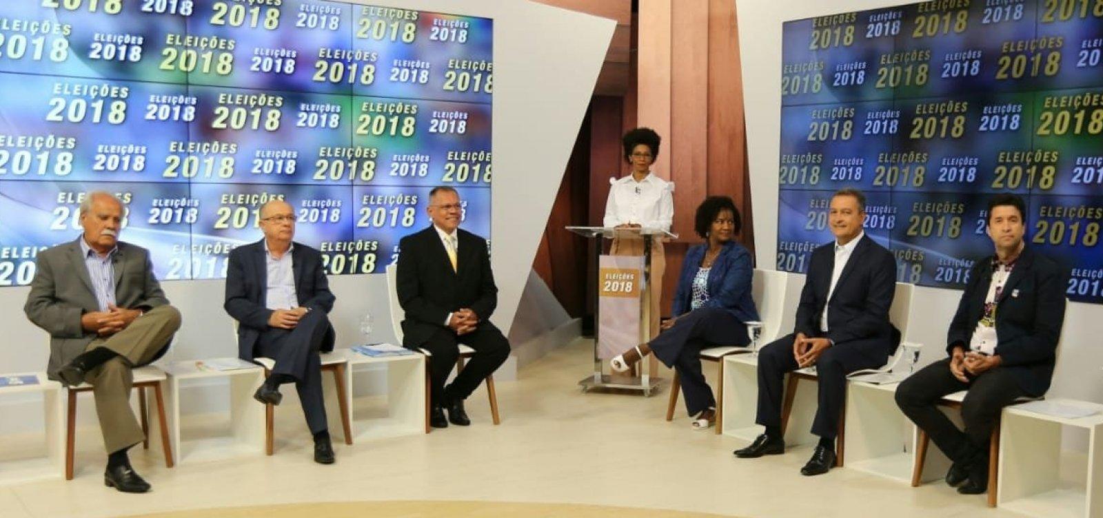 [Agenda: candidatos se enfrentam hoje em debate na TV]