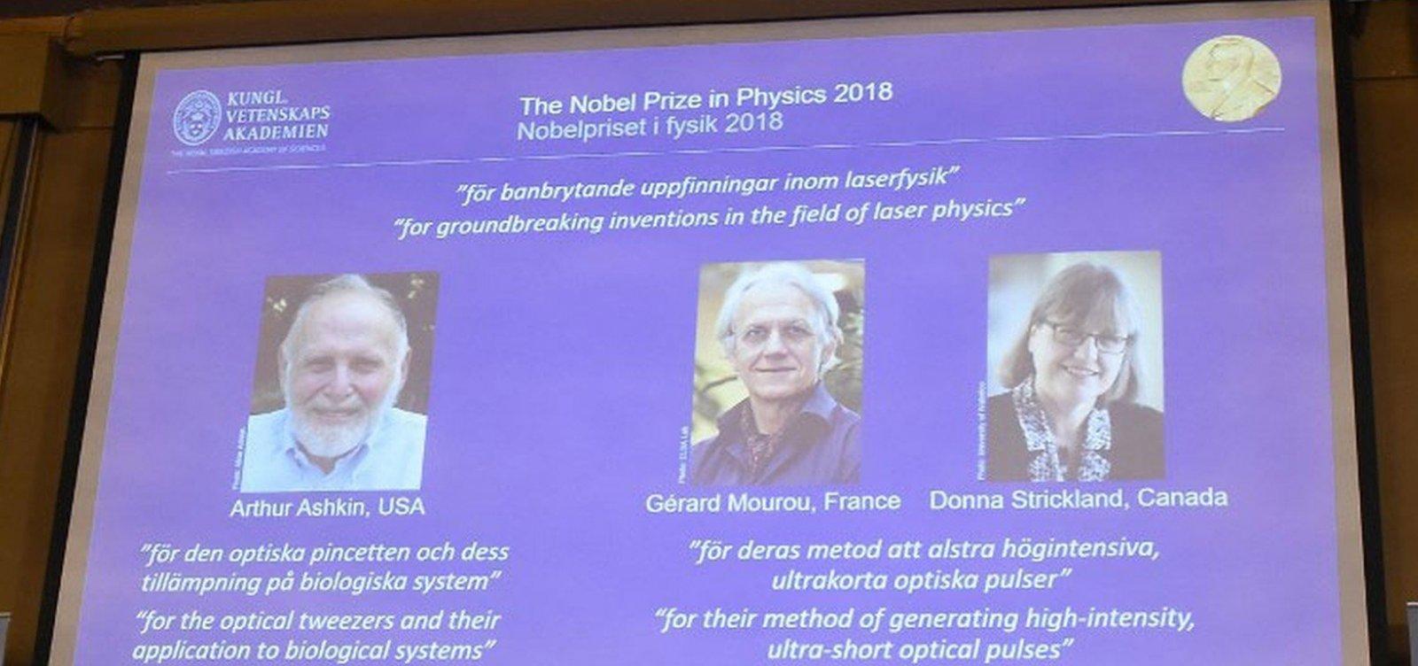 [Trio leva Nobel de Física por descobertas com laser]