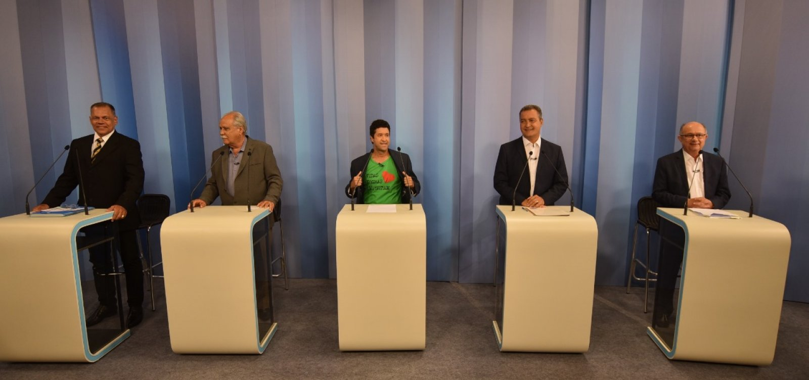 [Debate na TV Bahia: 1° bloco é marcado por propaganda de presidenciáveis]