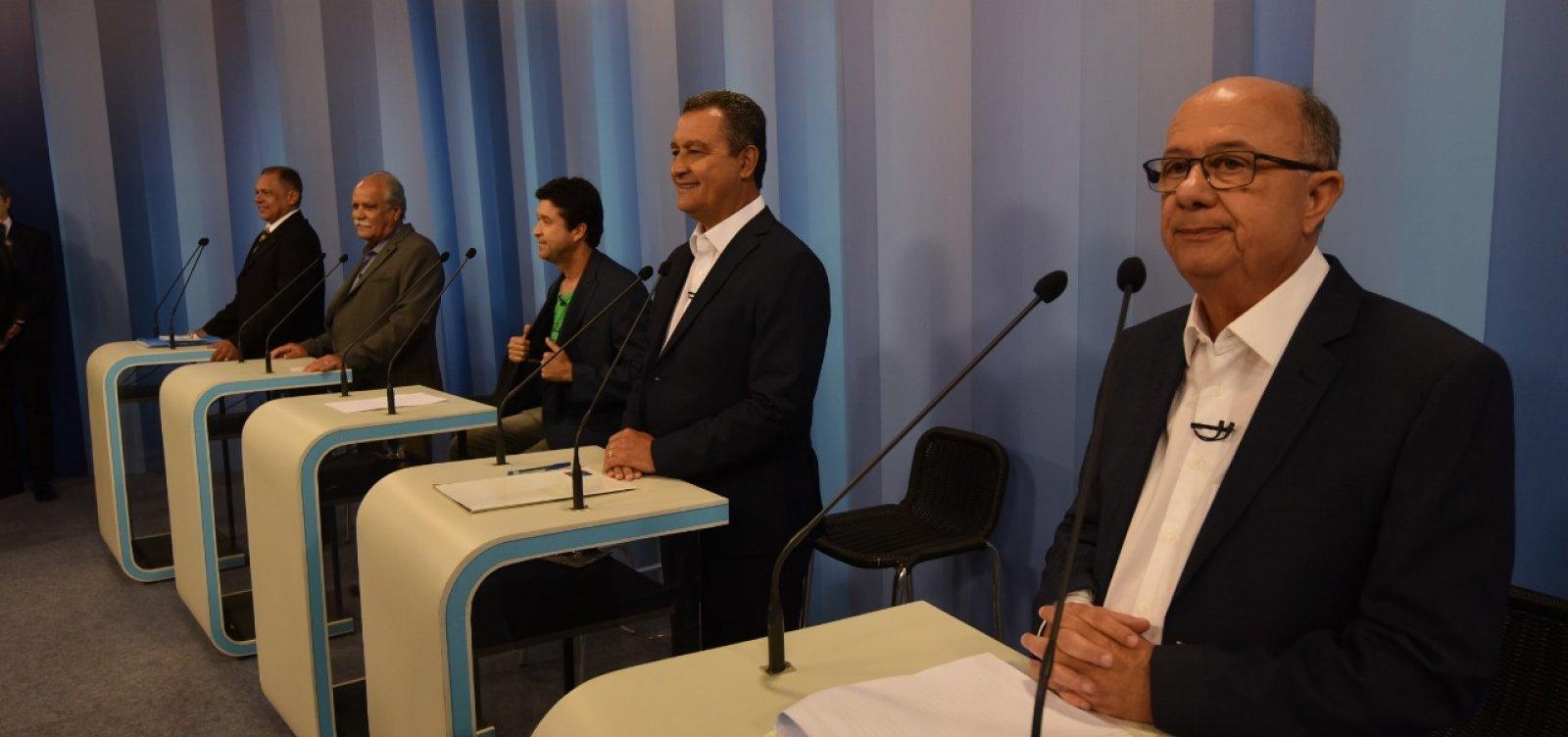 [Debate na TV Bahia: 2° bloco tem defesa do Planserv e embate entre Rui x Ronaldo]