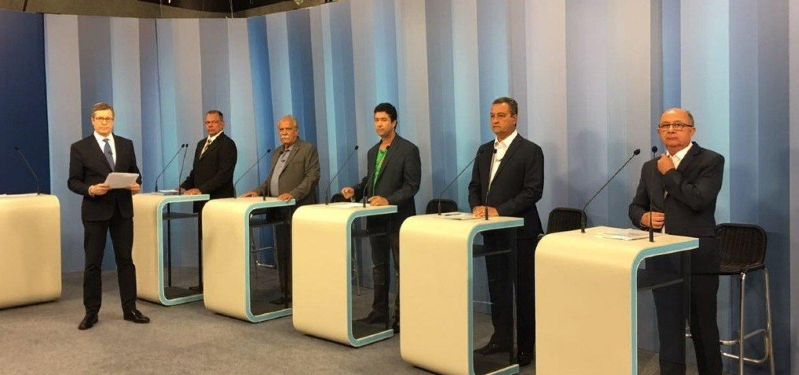 [Debate na TV Bahia: último bloco tem embates entre candidatos e até com mediador]