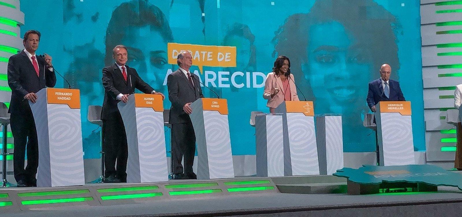 [Presidenciáveis participam hoje do último debate antes do 1º turno]