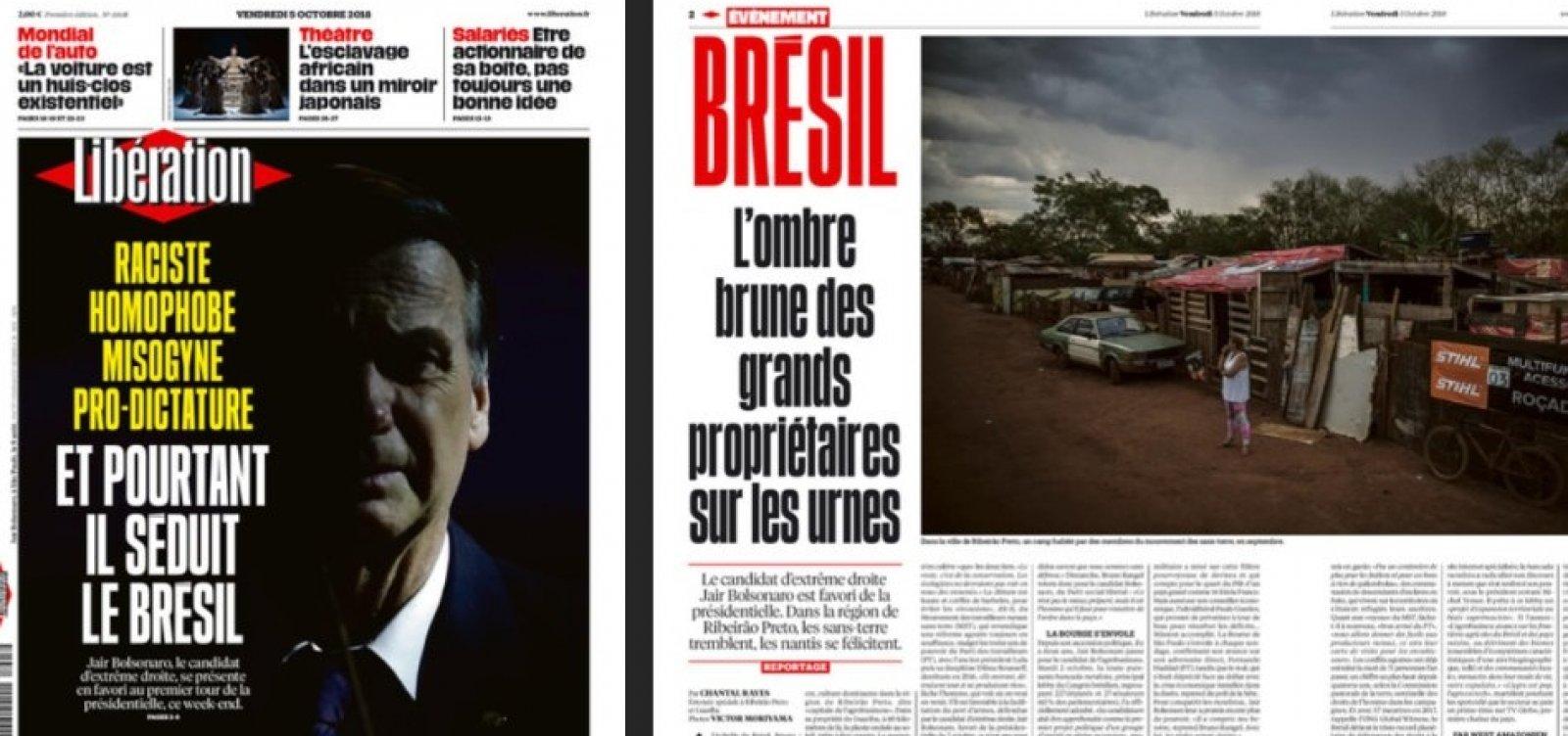 [Bolsonaro é capa do jornal francês Libération: 'Racista, homofóbico, misógino e pró-ditadura']