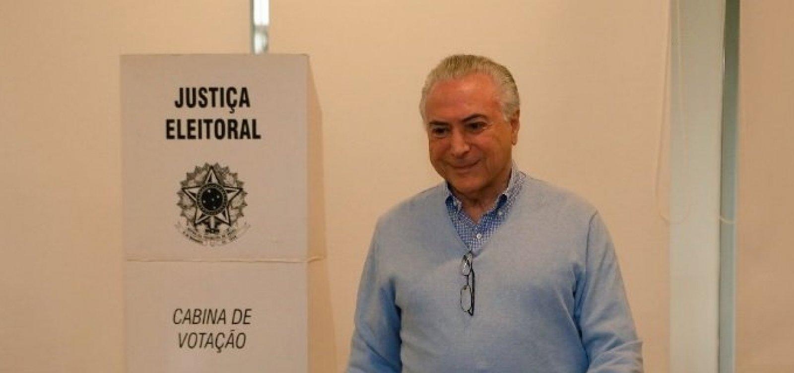 ['Depois de terminado o pleito, todos os brasileiros vão se unir', diz Temer]