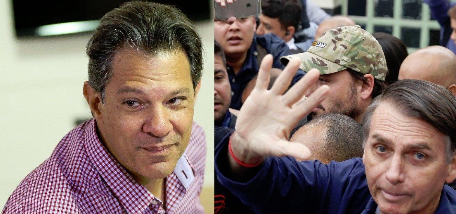 [Bolsonaro e Haddad fazem segundo turno, diz Ibope]
