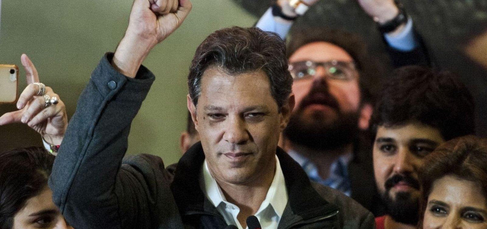 [Haddad fala em 'unir os democratas do Brasil' no segundo turno]