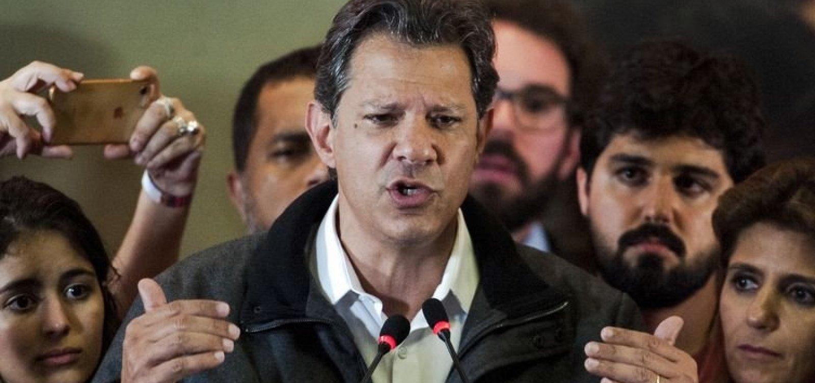 [Após visitar Lula, Haddad se esquiva de pergunta sobre ex-presidente]