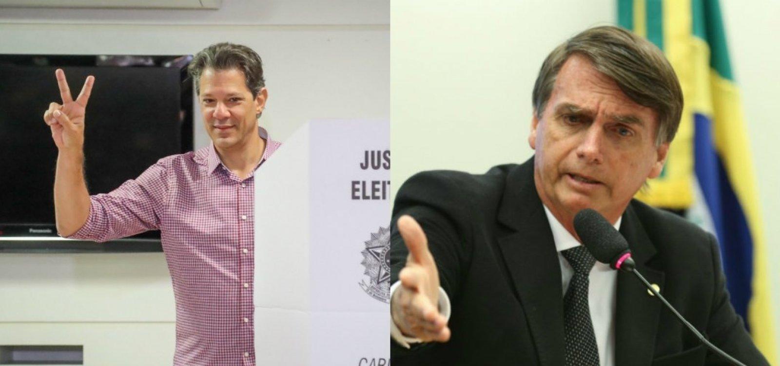 [Bolsonaro recusa 'protocolo ético' proposto por Haddad]