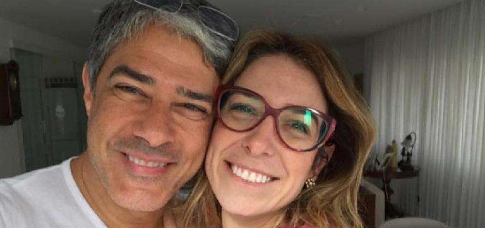 [Mulher de William Bonner celebra um mês de casados: 'Primeiro de muitos']