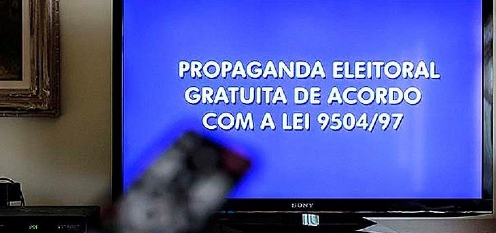 [Propaganda eleitoral do 2º turno no rádio e na TV começa na próxima sexta]