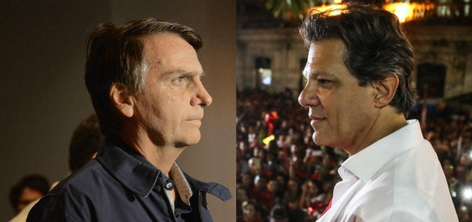 [Datafolha aponta Bolsonaro com 58% e Haddad com 42%]
