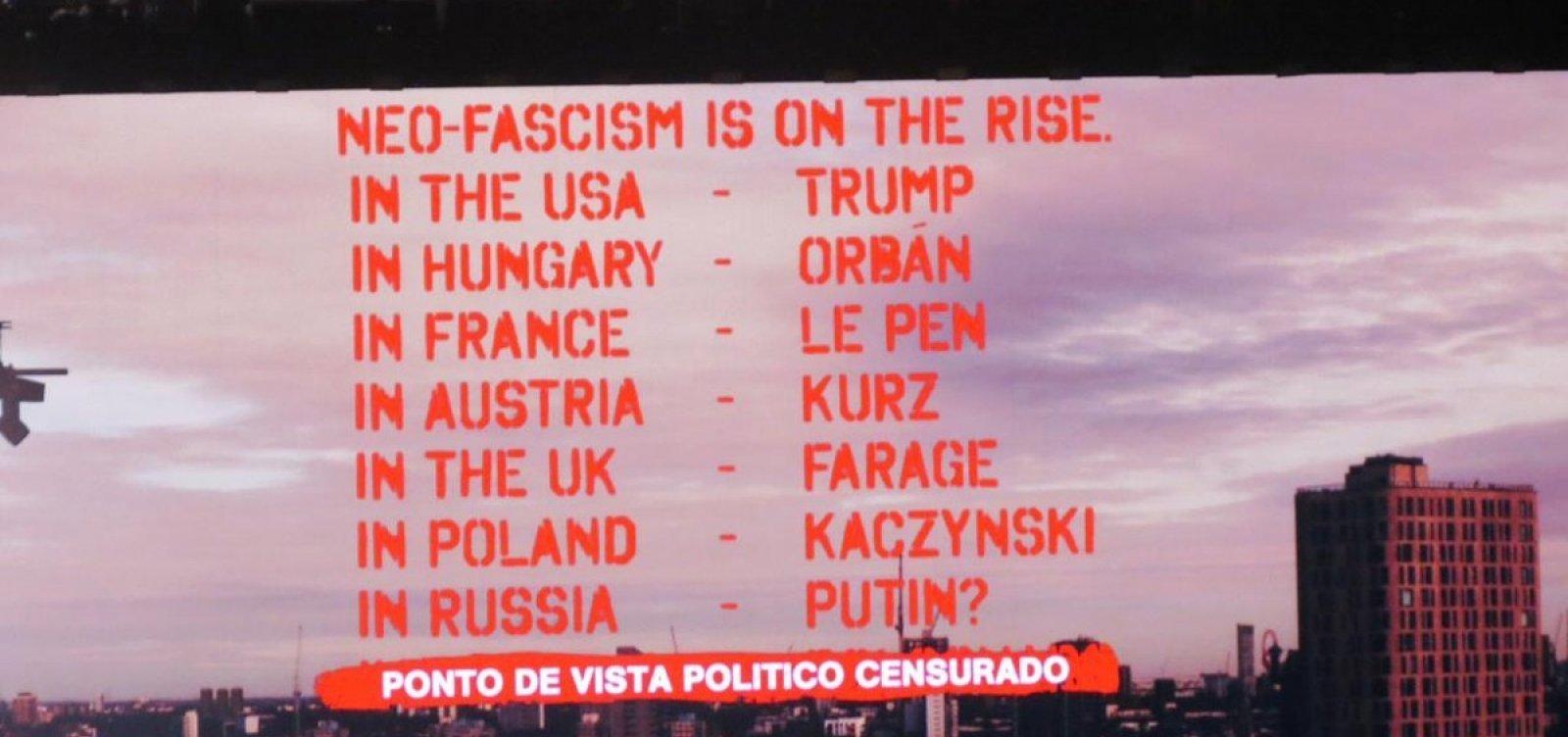 [ Roger Waters volta a protestar contra Bolsonaro]