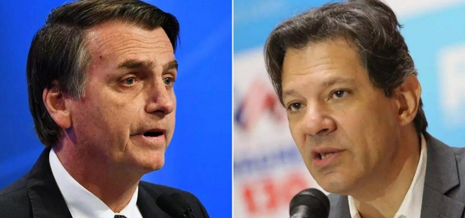 [Bolsonaro investe em ataque ao PT; Haddad deixa de lado 'agenda Lula']