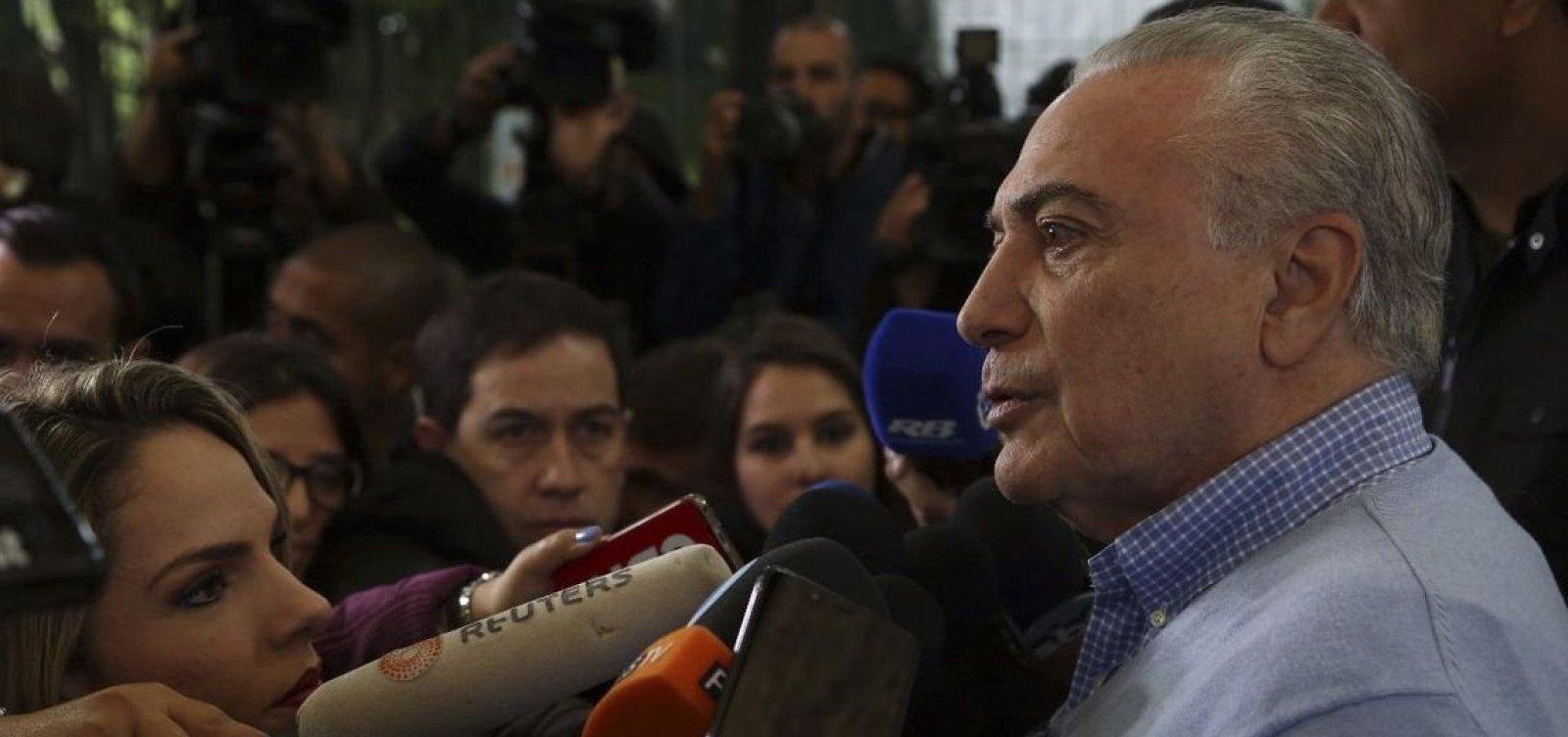 ['Após a eleição o Brasil estará reunificado', diz Temer]