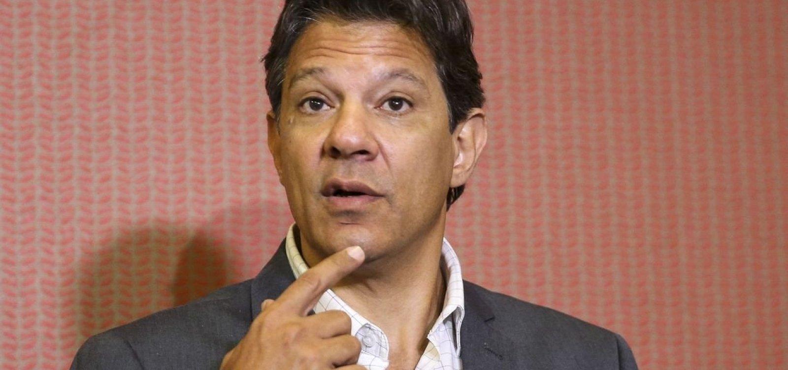 [Haddad admite que diretores 'ficaram soltos para promover corrupção' em governos do PT]