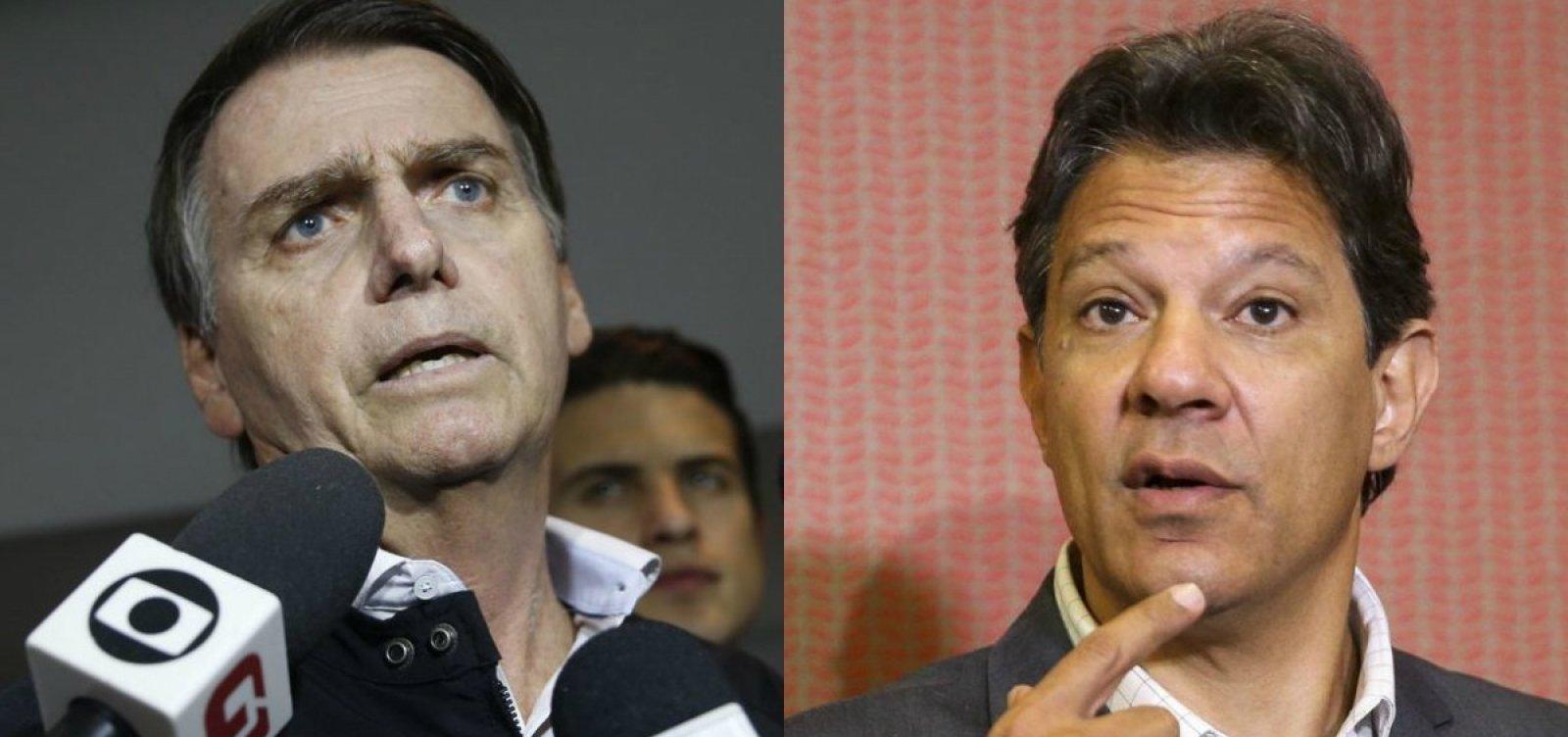 [Ibope: Bolsonaro tem 59% e Haddad 41%]