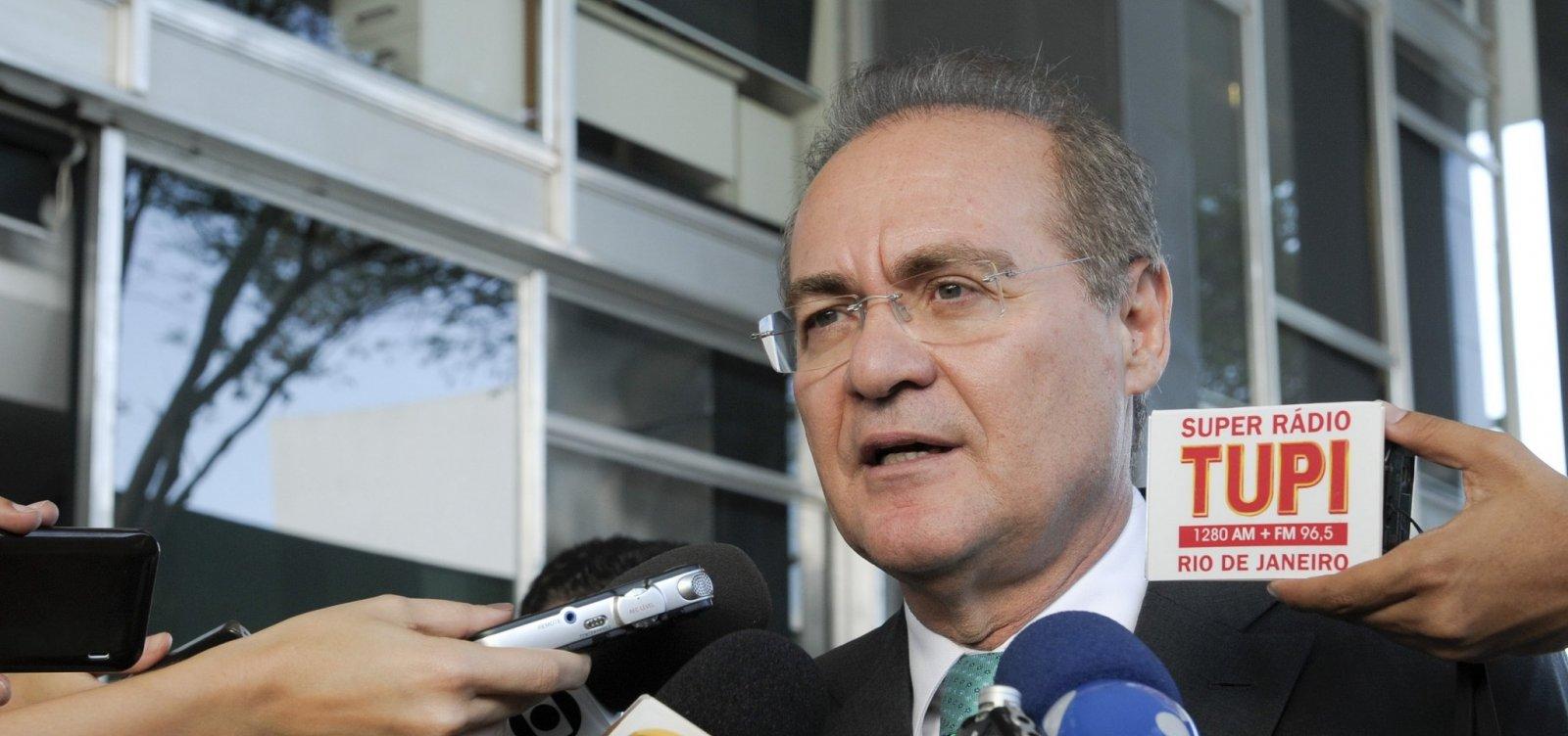 [Renan Calheiros diz ter apoio de 40 senadores na disputa pela presidência]