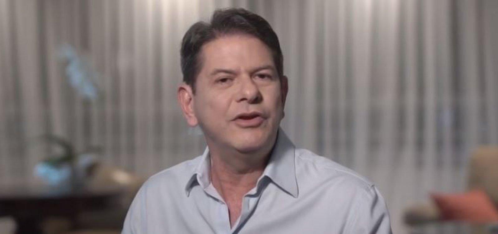 [Cid Gomes divulga vídeo em apoio a Haddad: 'É o melhor para o Brasil']