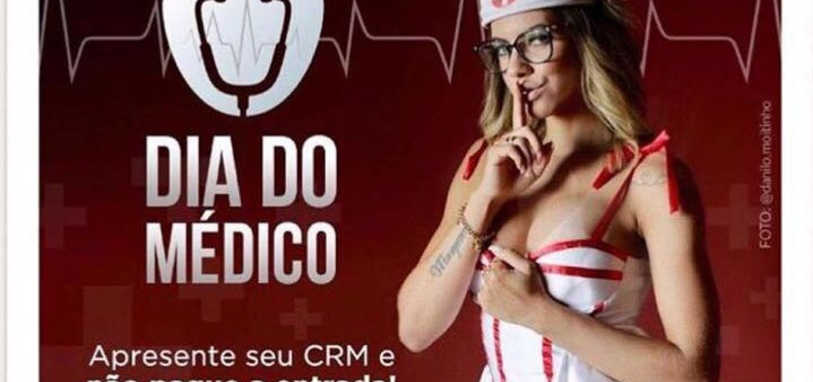 [Clube adulto em Salvador usa 'enfermeira' em outdoor e revolta entidades]