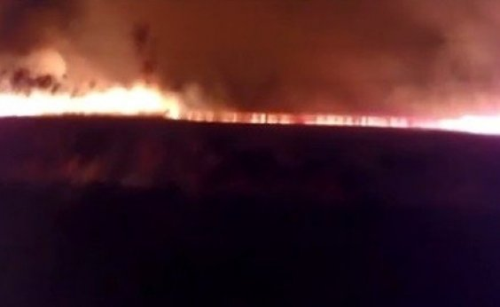 [Incêndio atinge 100 hectares de fazenda na Chapada Diamantina]
