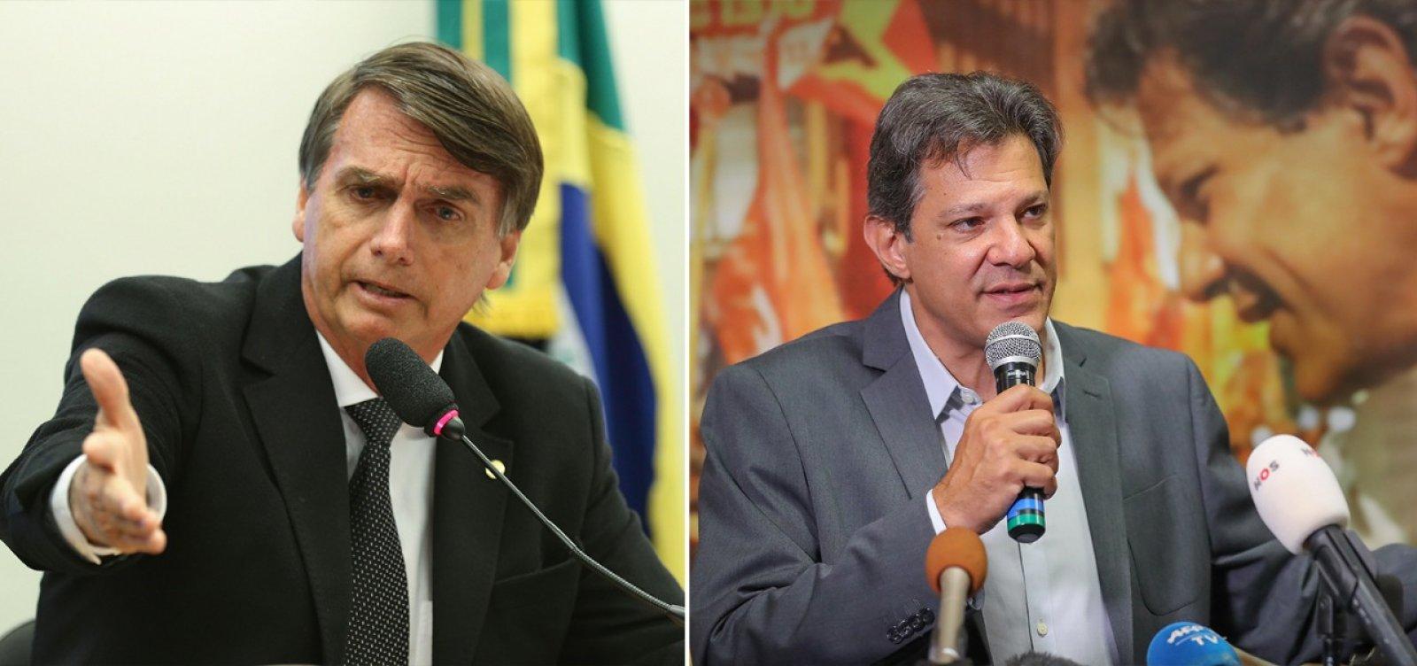 [Datafolha: Eleitores votam em Bolsonaro por renovação; em Haddad por rejeição a Bolsonaro]