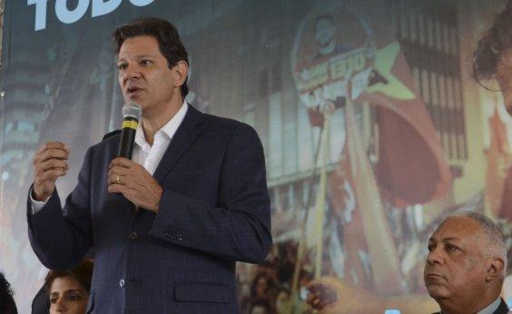 [Haddad chama Bolsonaro de 'soldadinho de araque' e o acusa de montar organização criminosa contra o PT]
